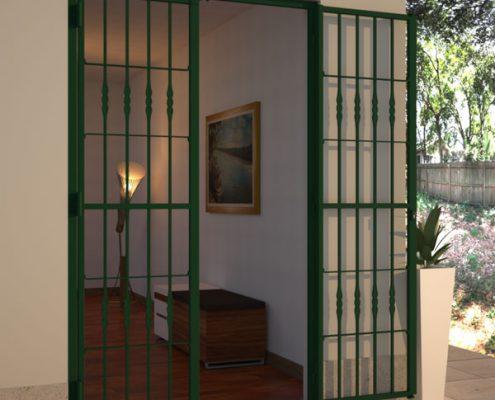 Decori Inferriate 10 Foglia schiacciata FOTO verde