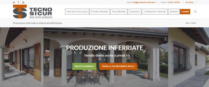 Produzione Inferriate e sistemi antieffrazione TECNO SICUR