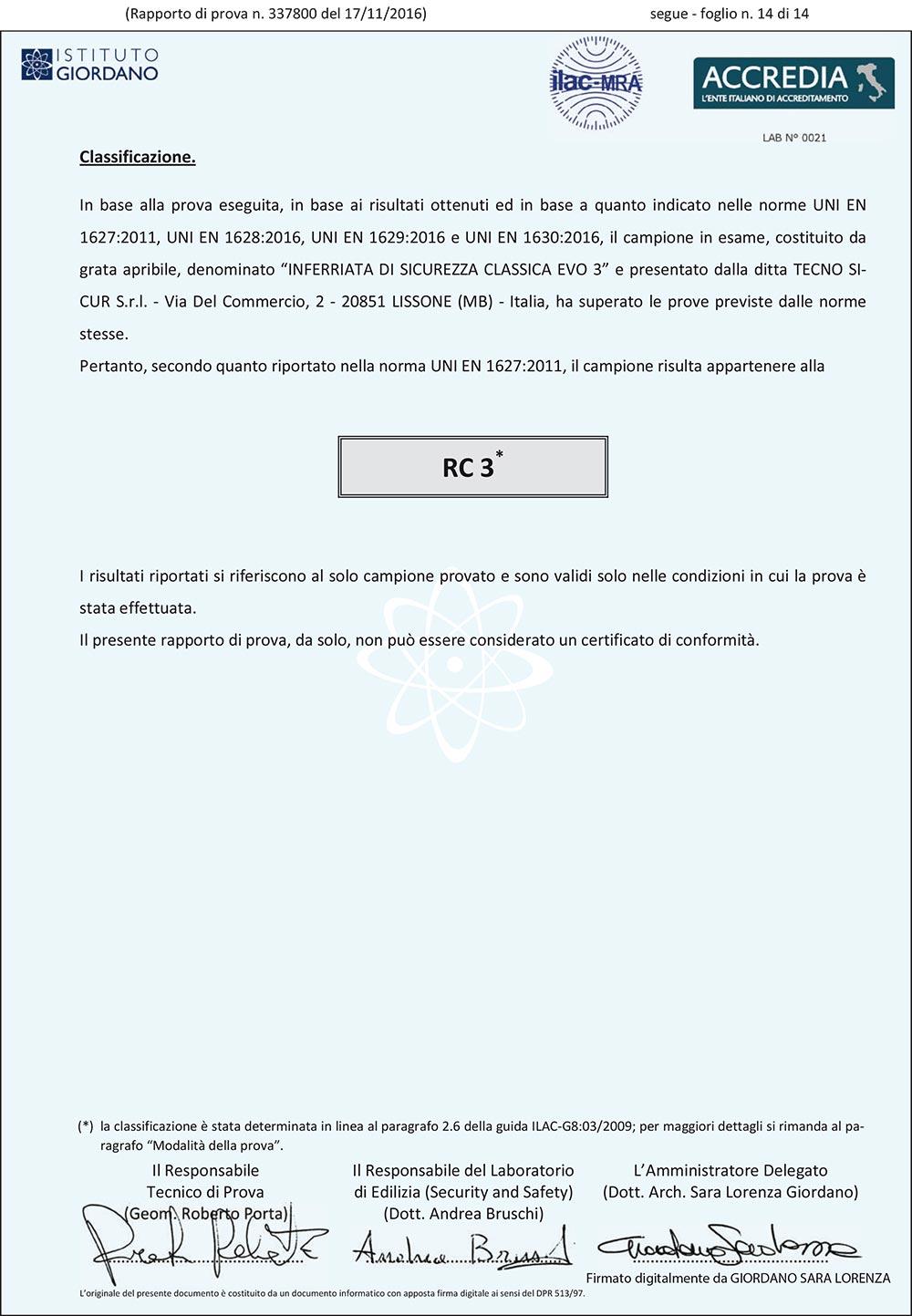 Report Classica EVO 3
