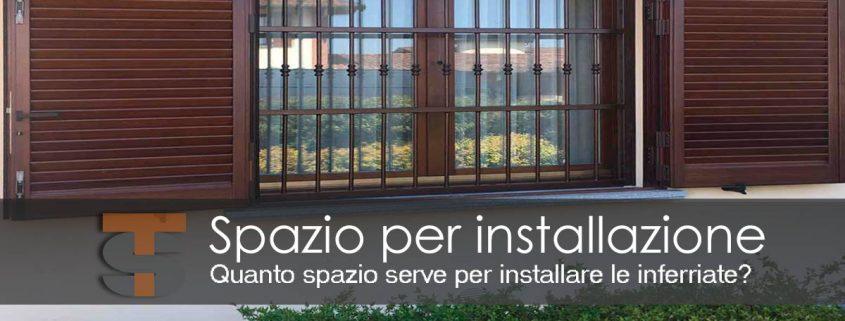 Installazione Inferriate quanto spazio