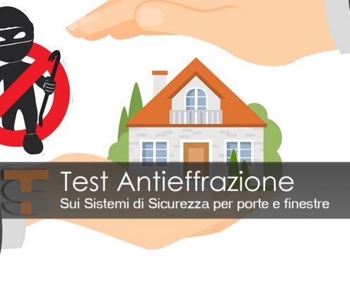 Test Antieffrazione Sistemi di sicurezza porte e finestre