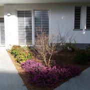 Inferriata Moderna su porte finestre con decoro Tondo Liscio Orizzontale bianco 02