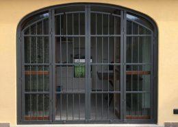 Inferriate per finestre ad arco antracite 01