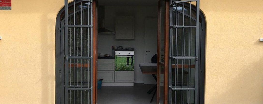 Inferriate per finestre ad arco antracite 02