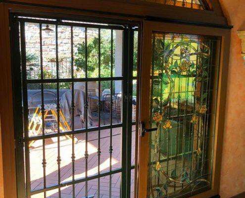 Inferriate per finestre ad arco verde 05