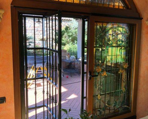 Inferriate per finestre ad arco verde 06