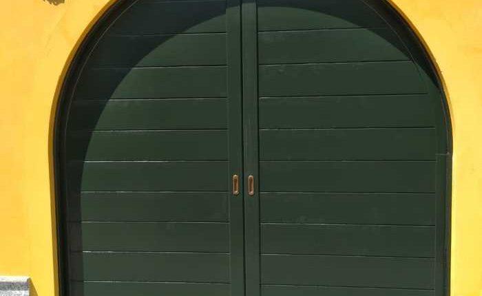 Inferriate per finestre ad arco verde ral 01
