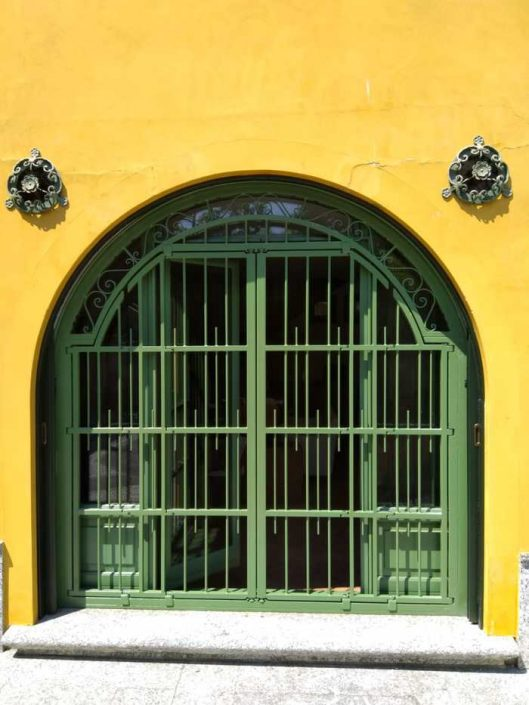 Inferriate per finestre ad arco verde ral 02
