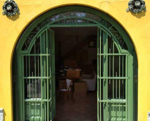 Inferriate per finestre ad arco verde ral 03