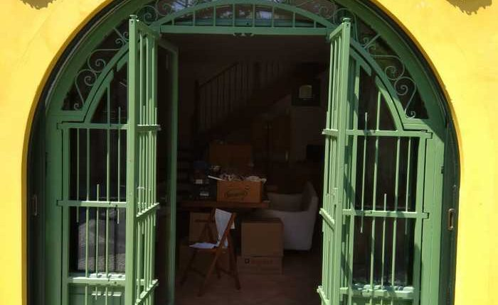 Inferriate per finestre ad arco verde ral 04