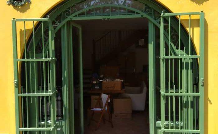 Inferriate per finestre ad arco verde ral 05