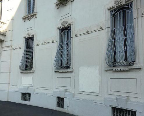Inferriate per finestre con decoro Bombato grigio ral 05