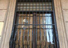 Inferriate per finestre con decoro Bombato rame 01