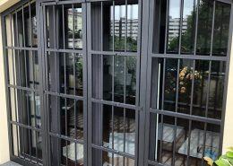 Inferriate per finestre con forme irregolari antracite micaceo 01