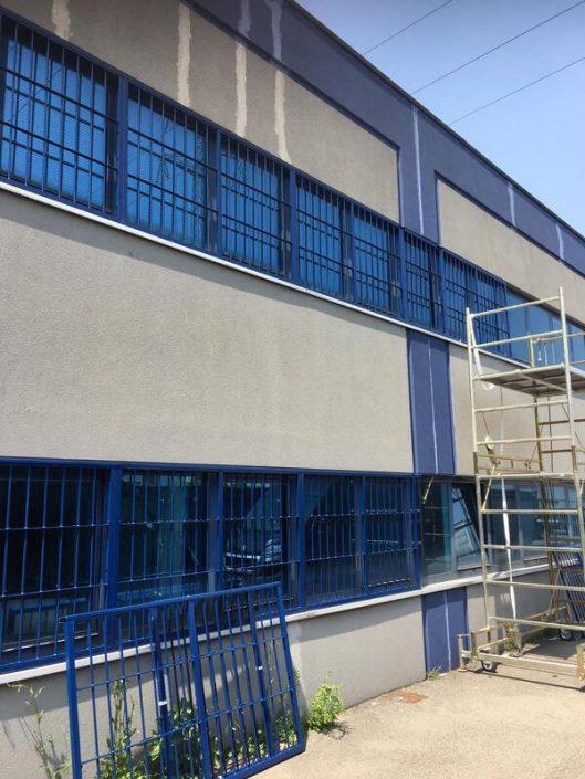 Inferriate per finestre con forme irregolari blu ral 01