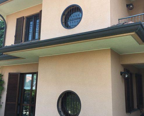 Inferriate per finestre con forme irregolari verde 01