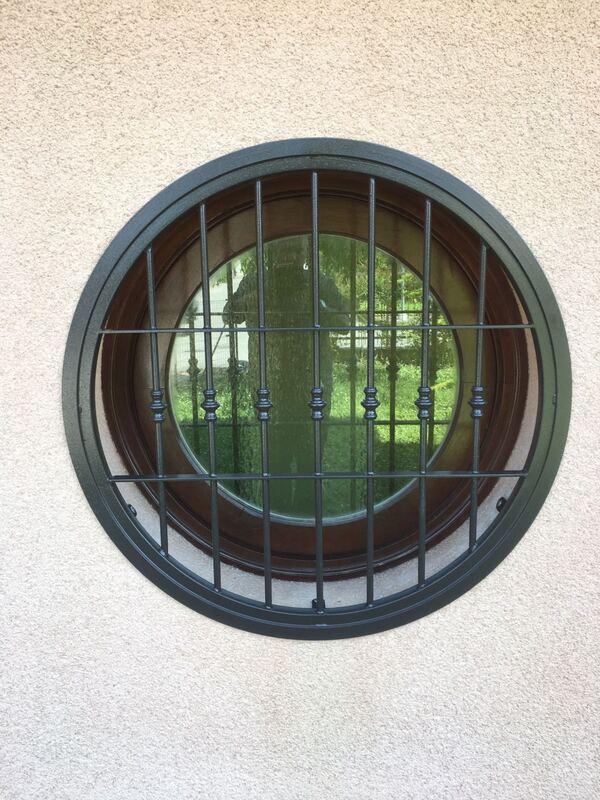 Inferriate per finestre con forme irregolari verde 02