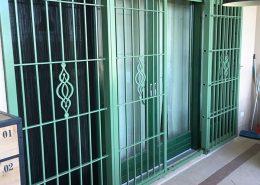 Inferriate per finestre con forme irregolari verde ral 01