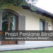 Prezzi Persiane Blindate