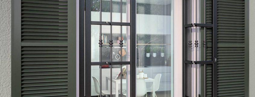 Persiana Inferriata Combinate finestre